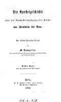 Die Apostelgeschichte  oder Der Entwickelungsgang der Kirche von Jerusalem bis Rom PDF