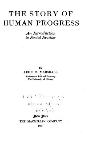 The Story of Human Progress PDF