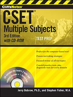 CliffsNotes CSET  Multiple Subjects with CD ROM  3rd Edition Book