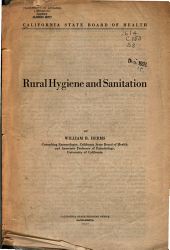 Rural Hygiene and Sanitation