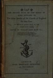 1548 ... The altar service of the Church of England for that year. To which is added that of ... 1549, ed. by W.J. Blew