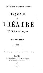 Les Annales du théâtre et de la musique: Volume2
