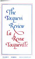 Revue Tocqueville PDF