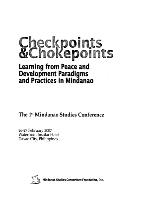Checkpoints   Chokepoints PDF