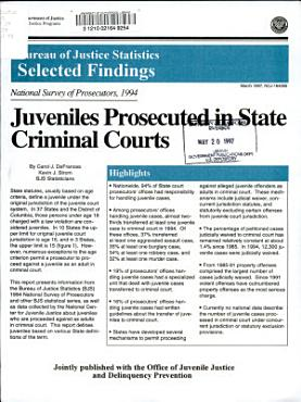 Juveniles Prosecuted in State Criminal Courts PDF