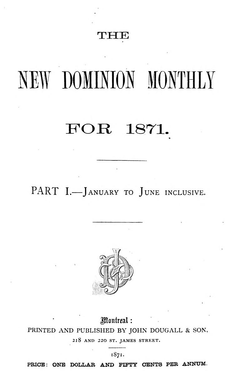 The New Dominion Monthly