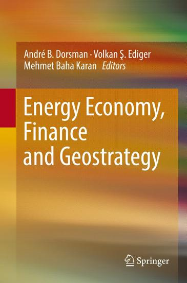Energy Economy  Finance and Geostrategy PDF