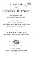A Manual of Ancient History PDF