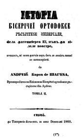 Istoria biceritschei ortodoxe: (Geschichte der orthodoxen orientalisch katholischen Kirche)