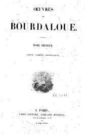 Oeuvres de Bourdaloue: Avent. Carême. Dominicales. T. 1