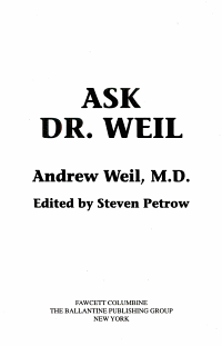 Ask Dr  Weil
