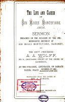 The Life and Career of Sir Moses Montefiore