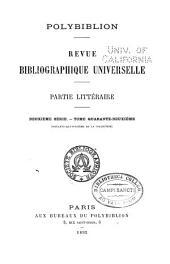 Polybiblion: Revue bibliographique universelle, Volume74