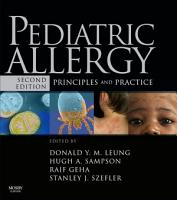 Pediatric Allergy  Principles and Practice E Book PDF