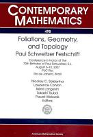 Foliations  Geometry  and Topology PDF