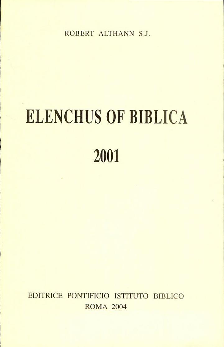 Elenchus of Biblica