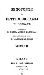 Dei detti memorabili di Socrate, traduzione di Michel-Angelo Giacomelli, con prefazione e note di Alessandro Verri: 1,23.24