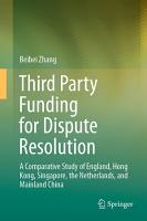 Third Party Funding for Dispute Resolution PDF