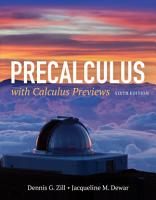 Precalculus with Calculus Previews PDF