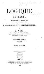 Logique de Hégel: Volume2