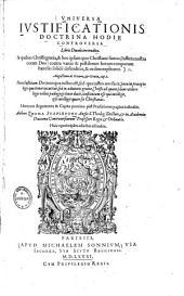 Universa iustificationis doctrina hodie controversa