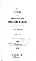 The Works of the right honourable Edmund Burke   A New Edition PDF