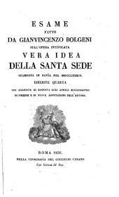 Esame della Vera idea della Santa Sede, operetta by Pietro Tamburini divisa in due parti e stampata in Pavia nel 1784