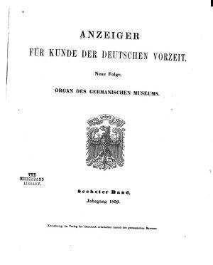 Anzeiger f  r Kunde der deutschen Vorzeit PDF