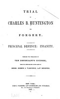 Trial of Charles B  Huntington for Forgery PDF