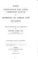 Gaii Institutionum Iuris Civilis Commentarii Quattuor PDF