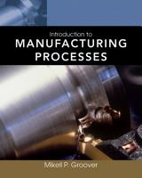 Introduction to Manufacturing Processes PDF