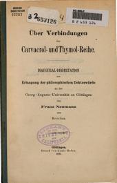 Über Verbindungen der Carvacrol- und Thymol-Reihe