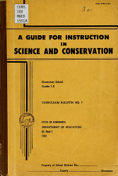 A Guide for Instruction in Science and Conservation  Elementary School  Grades 1 8 PDF