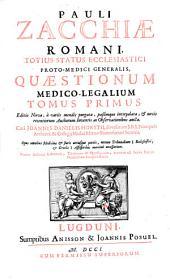 Quaestiones medico legales in tres tomos divisae