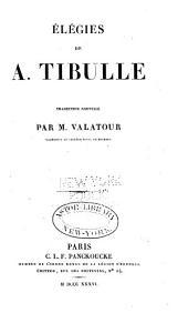 Élégies de A. Tibulle