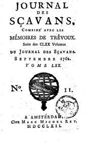 Le journal des sçavans, combiné avec les mémoires de Trévoux: Volume70