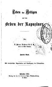 Leben der Heiligen aus dem Orden der Kapuziner: Band 2