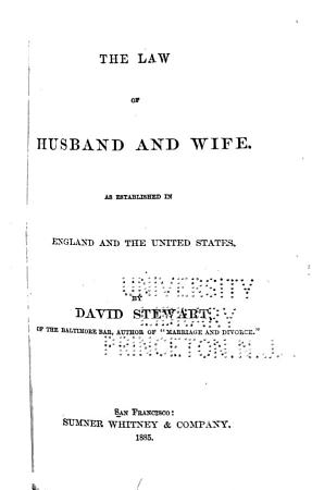 The Law of Husband and Wife PDF