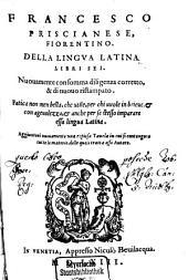 Della lingua latina libri sei