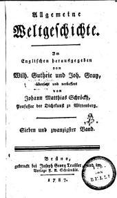 Allgemeine Weltgeschichte: Band 27