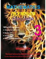 OLYMPIAD EHF MATHEMATICS EXPLORER CLASS  3 PDF