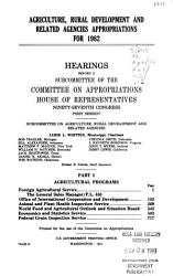 Agriculture  rural development  and related agencies appropriations for 1982 PDF