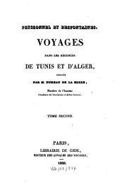 Voyages dans les régences de Tunis et d'Alger: Volume2
