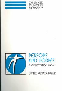 Persons and Bodies PDF