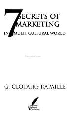 7 Secrets of Marketing in a Multi cultural World PDF