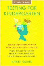 Testing for Kindergarten PDF