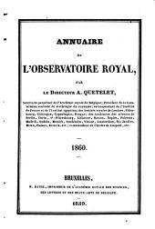 Annuaire de l'Observatoire Royal de Bruxelles: Volume27