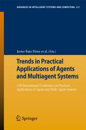Trends in Practical Applications of Agents and Multiagent Systems: 11th International Conference on Practical Applications of Agents and Multi-Agent Systems