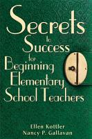 Secrets to Success for Beginning Elementary School Teachers PDF
