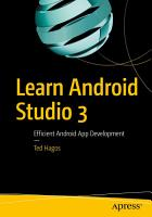 Learn Android Studio 3 PDF